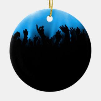 Concert Crowd Ceramic Ornament