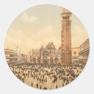 Concert in St Mark s Square II Venice Italy Sticker