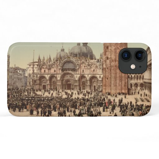 Concert in St Mark's Square I, Venice, Italy iPhone 11 Case