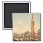 Concert in St Mark's Square II, Venice, Italy 2 Inch Square Magnet