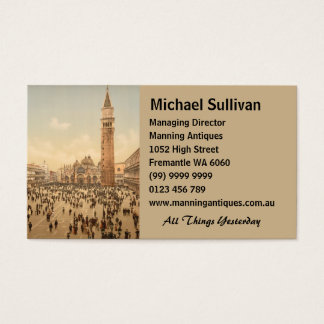 Concert in St Mark's Square II, Venice, Italy Business Card