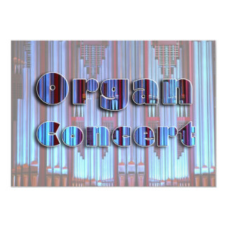 Concert invitation - blue pipes