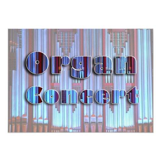 """Concert invitation - blue pipes 5"""" x 7"""" invitation card"""