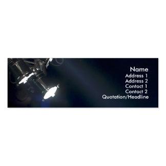Concert lights profile card business card