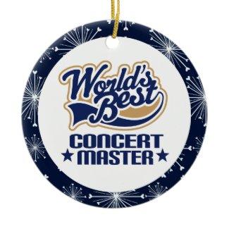 Concert Master Gift Ornament ornament
