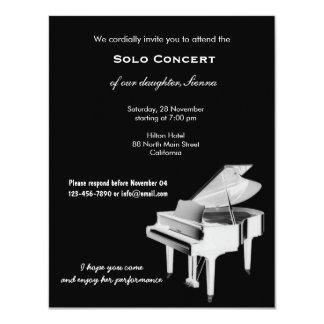 Concert Music 4.25x5.5 Paper Invitation Card