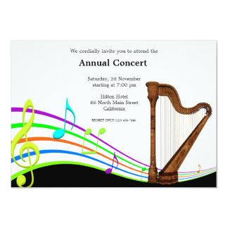 Concert Music 5x7 Paper Invitation Card