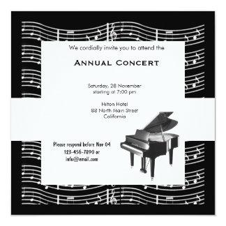 Concert Music Invitation