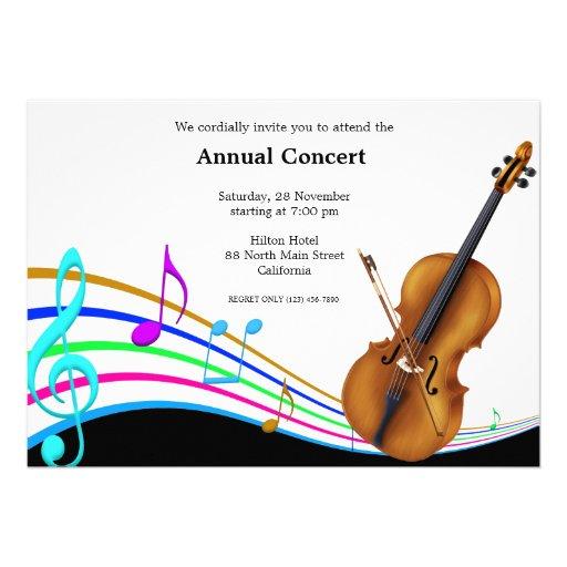 Concert Music Personalized Invitation | Zazzle