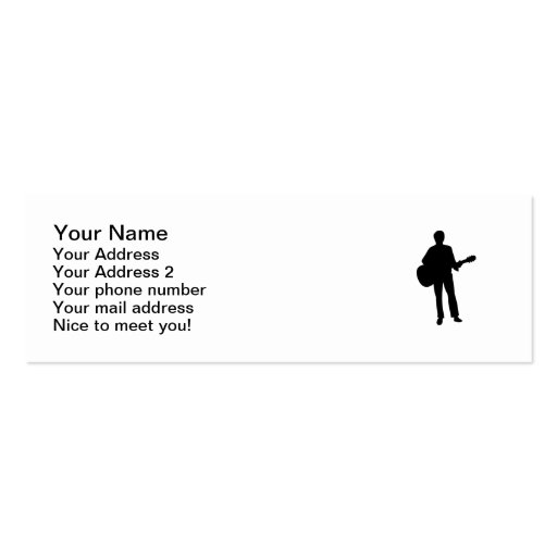 Concert musician guitar business card