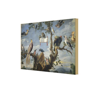 Concert of Birds by Frans Snijders Canvas Print