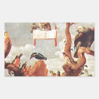Concert Of Birds by Frans Snyders Rectangular Sticker