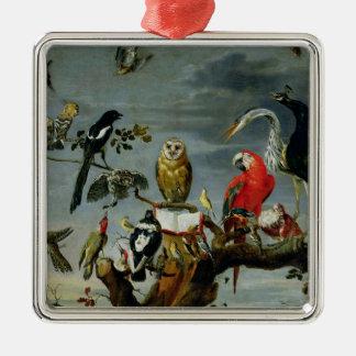 Concert of Birds Metal Ornament