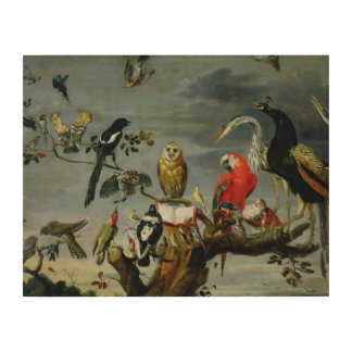 Concert of Birds Wood Wall Decor