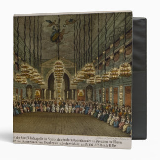 Concert of the royal band in the auditorium 3 ring binder