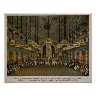 Concert of the royal band in the auditorium posters
