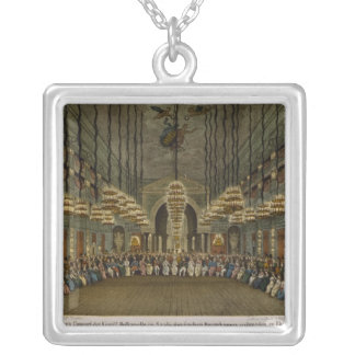 Concert of the royal band in the auditorium silver plated necklace
