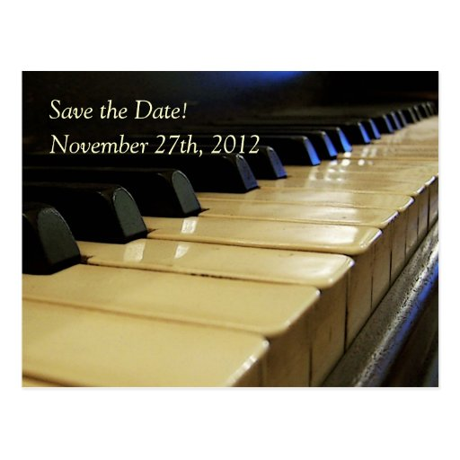 Concert or Recital Save the Date Postcard