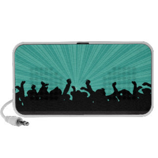 Concert Party Doodle Custom Speakers  - Turquoise