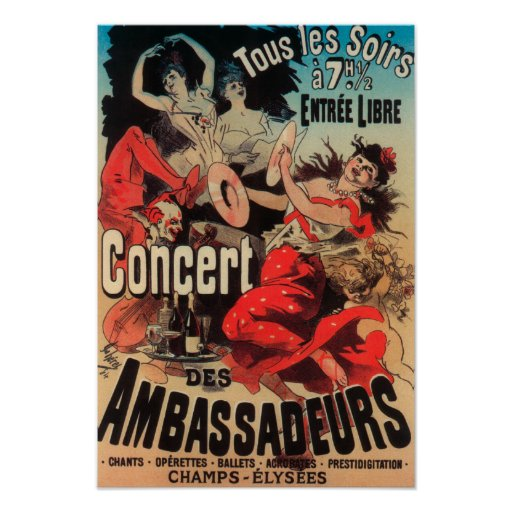 Concert Poster on Avenue de Champs-Elysees