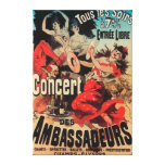 Concert Poster on Avenue de Champs-Elysees Canvas Print
