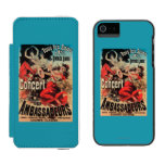 Concert Poster on Avenue de Champs-Elysees iPhone SE/5/5s Wallet Case