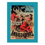 Concert Poster on Avenue de Champs-Elysees Postcard