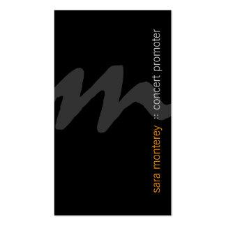 Concert Promoter BoldScript Monogram Business Card