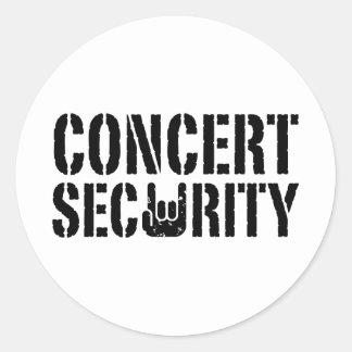 Concert Security Classic Round Sticker