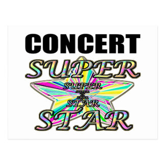 Concert Superstar Postcard