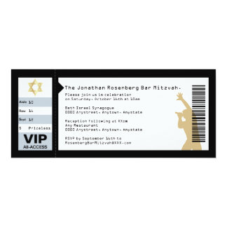 Concert Ticket Bar Mitzvah Invitation in Black