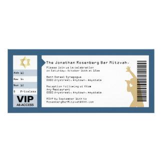 Concert Ticket Bar Mitzvah Invitation in Navy
