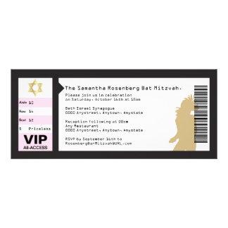 Concert Ticket Bat Mitzvah Invitation in Black