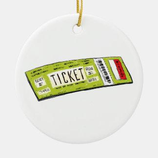 Concert Ticket Ceramic Ornament