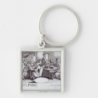 Concert Ticket for Mary's Chapel Silver-Colored Square Keychain