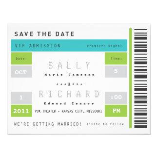 Concert Ticket Save the Date Custom Invites