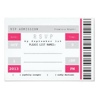 Concert Ticket Stub RSVP Card