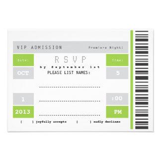 Concert Ticket Stub RSVP Personalized Invitation