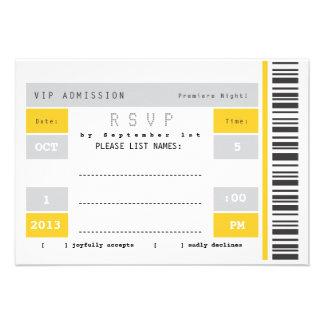 Concert Ticket Stub RSVP Custom Announcements