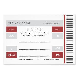 Concert Ticket Stub RSVP Invitations
