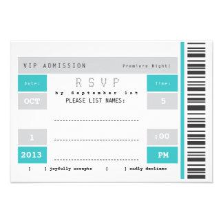 Concert Ticket Stub RSVP Announcement