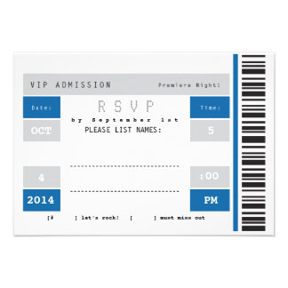Concert Ticket Stub RSVP Personalized Invitations
