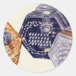 Concertina Classic Round Sticker