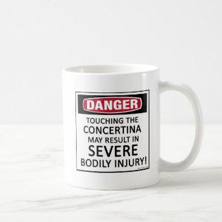 Concertina del peligro taza