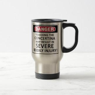 Concertina del peligro taza térmica