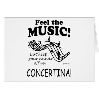 Concertina Feel The Music Card
