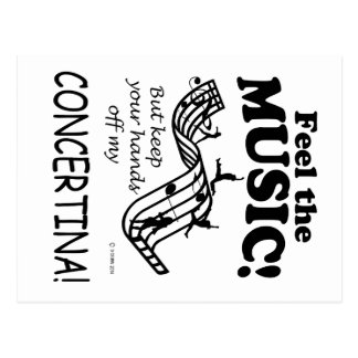 Concertina Feel The Music Post Cards