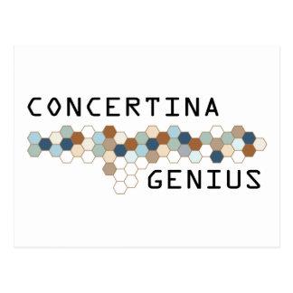 Concertina Genius Postcard