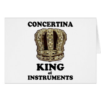 Concertina King of Instruments Greeting Cards