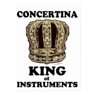 Concertina King of Instruments Postcard